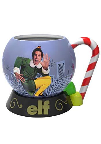 Zak Designs Elf movie Buddy Unique 3D Character Sculpted Ceramic Coffee Mug, Collectible Keepsake and Wonderful Tea Mug (15 oz, Buddy, BPA-Free)