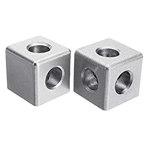 3 Sides Corner cube connector 20 series for extrusion aluminium profile 2020 with bolts and side covers