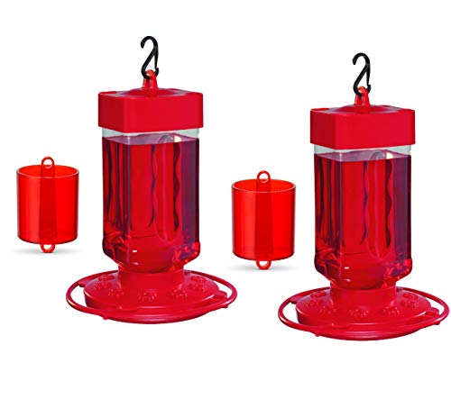 First Nature 3055 32-Ounce Hummingbird Feeder (32 oz, 2 Feeders with 2 Ant Guards)