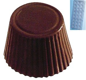 Fat Daddio's Polycarbonate Chocolate and Candy Mold Fluted Tapered Round, 21 Pieces