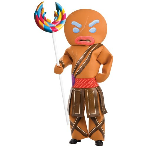 Shrek Gingerbread Man Warrior Costume, Brown, Standard -