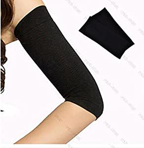 ewinever(R) 1 Pair Black Calories Off Slim Shaping Shaper Massaging Fat Lose Buster Trimmer Belt For Arms