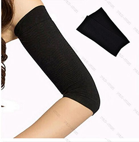 1 Pair Black Calories Off Slim Shaping Shaper Massaging Fat Lose Buster Trimmer Belt For Arms(Color : Black) ewinever