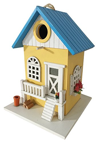 Country Cottage Fence - CARTMAN Colored Country Cottages Bird House (Farmhouse)