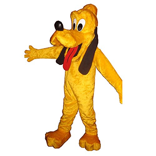 KF Pluto Mascot Yellow Dog Costume Party Adult Size Outfit Halloween Cosplay Mickey ()