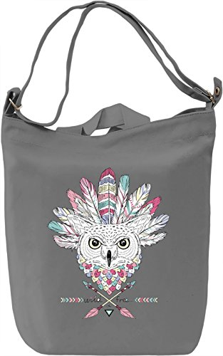 Indian owl Borsa Giornaliera Canvas Canvas Day Bag  100% Premium Cotton Canvas  DTG Printing 