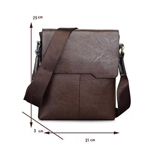 Herren Leder Business-Paket Aktentasche Männer Tasche Schulter Messenger Tasche Trend Vertikalen Abschnitt Kleiner Rucksack Brown
