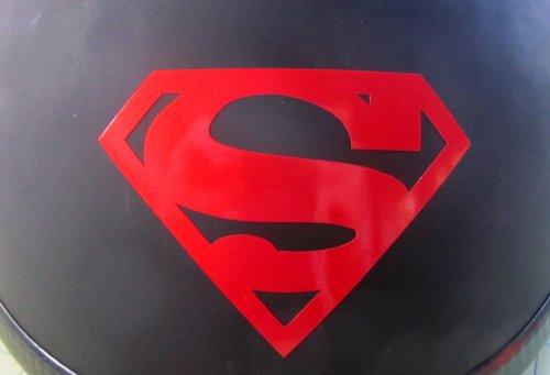 RED Reflective Superman Symbol - 3