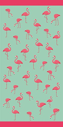 Multi Flamingos Velour Brazilian Beach Towel 30x60 Inches