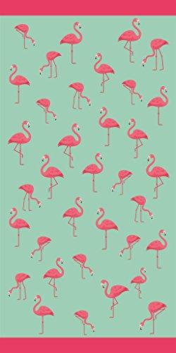 Towels Beach Flamingo - Multi Flamingos Velour Brazilian Beach Towel 30x60 Inches