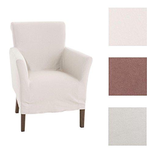 CLP Polster-Sessel VIVIAN mit abnehmbarer Husse, bietet langlebigen Sitzkomfort, Sitzhöhe 48 cm, FARBWAHL beige