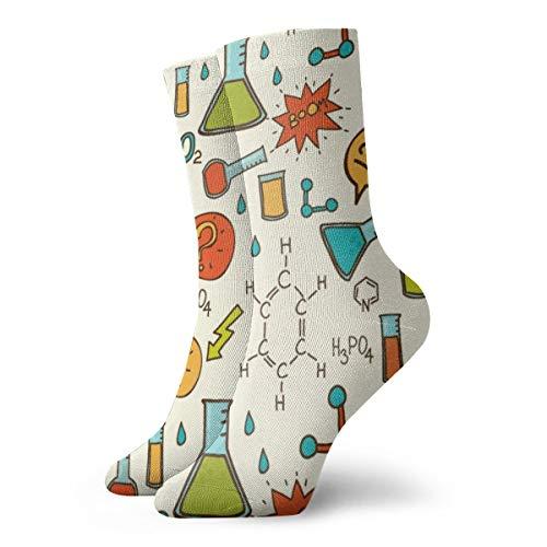 Unisex High Ankle Cushion Crew Socks Chemical Supplies Casual Sport Socks