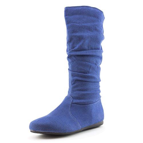 Chaussure Mi-mollet 13 Pouces En Daim Imitation Mi-mollet (adulte) Easy Generation19 Pour Femme Dk Blue Denim