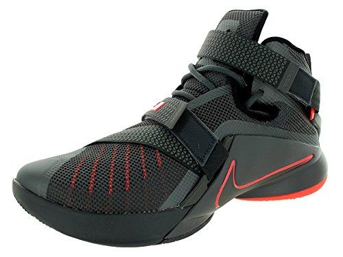 NIKE MENS LEBRON SOLDIER IX PRM SNEAKER Dark Grey - Footwear/Sneakers 9 ()
