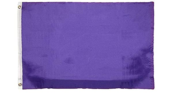 3X5 Purple Flag Solid Plain Purple Premium Banner Grommets Polyester FAST SHIP