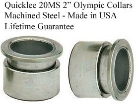 Quicklee 20MS Machined Steel 2'' Olympic Collars Lifetime Guarantee - Made in USA by Specialized Marketing, Inc. by SPECIALIZED