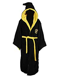 Harry Potter ALL HOUSES Adult Fleece Hooded Bathrobe (One Size)
