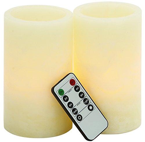 Benzara Mesmerizing LED Flameless Candle Remote Set