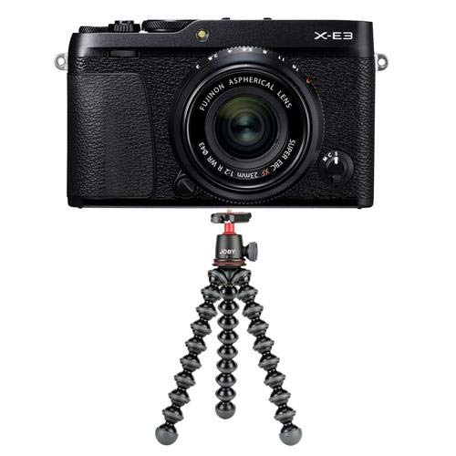 Fujifilm X-E3 Mirrorless Camera with XF 23mm f/2 R WR Lens, Black - with Joby GorillaPod 3K Kit, Black