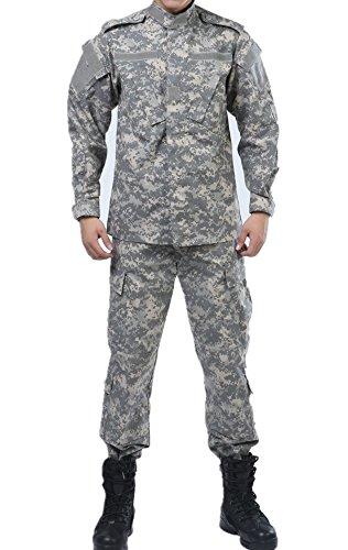 U.S. Army Universal Camo Tactical ACU Combat Coat Pant BDU Uniform Sets Ripstop ()