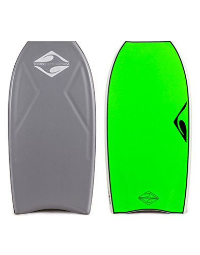 Toobs Drive Comp (DC) 40 inch Crescent Tail Bodyboard Grey/Lime by Toobs