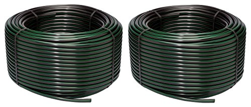 Rain Bird T63-500S Drip Irrigation 1/2'' (.630'' OD) Blank Distribution Tubing, 500' Roll, Black (Pack of 2) by Rain Bird