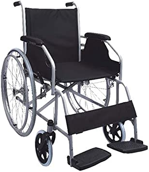 Polironeshop Movis - Silla de ruedas plegable autopropulsable, con ruedas de acero, para personas con movilidad reducida y ancianos, fácil de transportar y plegar, para procesos posoperatorios, económ