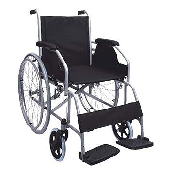 Polironeshop Movis - Silla de ruedas plegable autopropulsable, con ruedas de acero, para personas con movilidad reducida ...