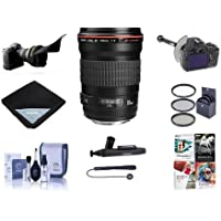Canon EF 135mm f/2L USM AutoFocus Telephoto Lens, USA - Bundle with 72mm Filter Kit, Lens Wrap, FocusShifter DSLR Follow Focus and Rack Focus Lens, Cap Leash, Flex Lens Shade, Software Pack and More