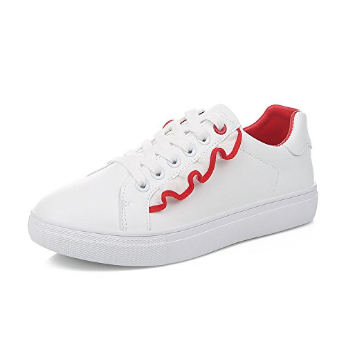 Scarpe Koyi Espadrillas Casual Sportive Donna da Stringate Scarpe Sneakers Sportive Studente Donna da Red drqwrX