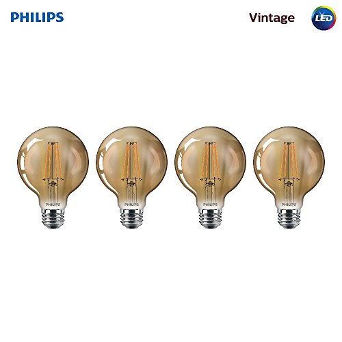 Philips 470419 40 Watt Equivalent Vintage Amber Glass Dimmab