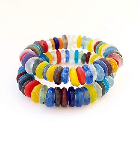 Rainbow Sea Glass Single