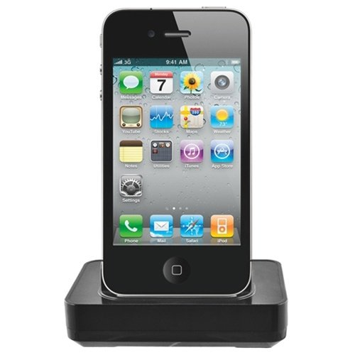 Seidio Desktop Cradle Kit for Apple iPhone 4  Retail Packaging (Black) ()