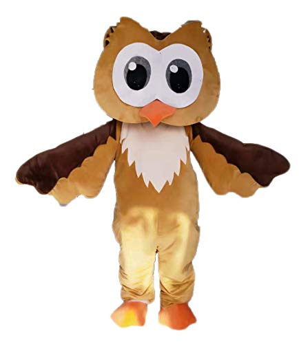 Funny Adult Size Brown Owl Mascot Costume for Party School Mascots Deguisement Mascotte