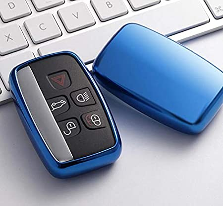 YUWATON Car Key Cover Car Remote Control Cover for Land Rover Range Rover Evoque Freelander Discovery Car Key Case Key Chain Gold