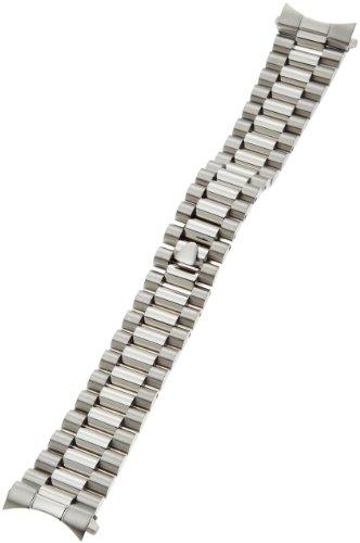 Hadley-Roma Men's MB4226RWSandC20 20-mm Stainless Steel Watch Bracelet