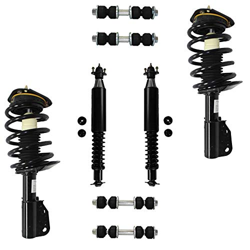 Detroit Axle - 8PC Front and Rear Strut & Coil Spring Assembly w/Sway Bars for 00-05 Pontiac Bonneville - [00-05 Buick LeSabre] - 06-11 Lucerne - [00-05 Cadillac Deville] - 06-10 DTS - EXCLUDING LIMO
