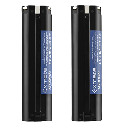 Exmate 2PCS 9.6V 3500mAh Ni-MH Replacement Battery Compatible with Makita 9033 193890-9 192696-2 632007-4 9001 9002 9600 191681-2 192533-0 4093D 4093DW 5090D 5090DW 6095D