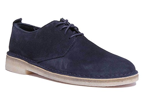 Clarks Originali Desert London Mens Blu Navy Opaco Sho Navy X12
