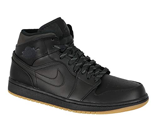 Jordan Air 1 Mid Winterized Men's Shoes Black/Anthracite-Gum Yellow aa3992-002 (9 D(M) US) (Jordans Für Verkauf Kinder)