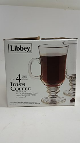 Libbey 7.7 Ounce Irish Coffee Mug, 4-Piece Set