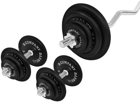 Juego de pesas para 97 kg (1 x SZ - Barra para pesas (120 cm, 2 barras