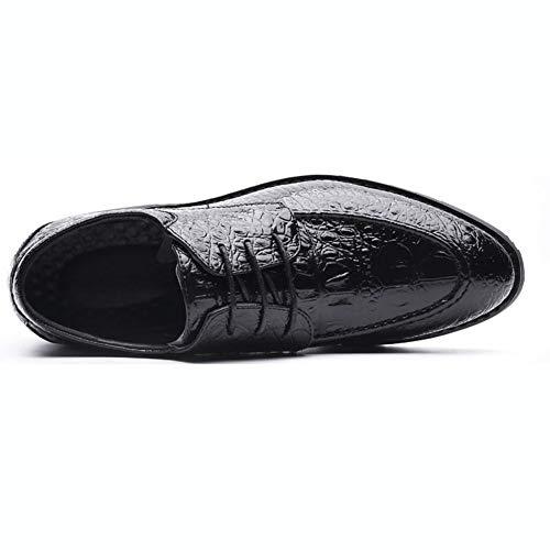 Scarpe Nozze Britannico Scarpe Nero Casuale da Inteligente Moda Allacciare di Sera Formale Stile Pelle Uomo NXY 18awxtvqHq