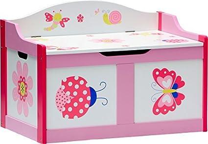 IB-Style - Set di mobili per bambini PAPILLON | 6 combinazioni | 4 pezzi: Set composto da tavolo per bambini, 2 sedie e cassapanca - Set di mobili per bambini con cassapanca