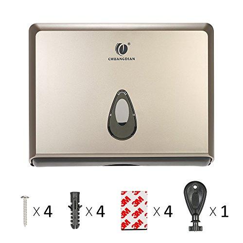 BBX Lephsnt CHUANGDIAN Wall-Mounted Bathroom Paper Towel Dispenser (Champagne Gold) by BBX Lephsnt (Image #7)