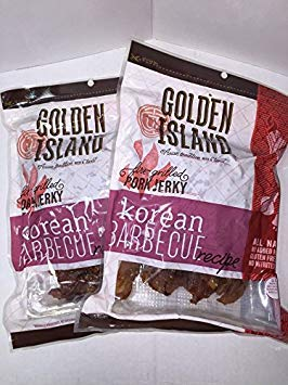 Golden Island Natural Style Pork Jerky, Korean Barbecue Recipe, 14.5oz (2 ()