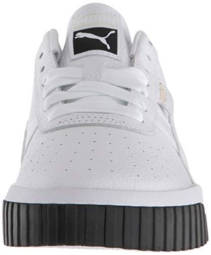 PUMA Women's CALI Sneaker, White Black, 11 M US
