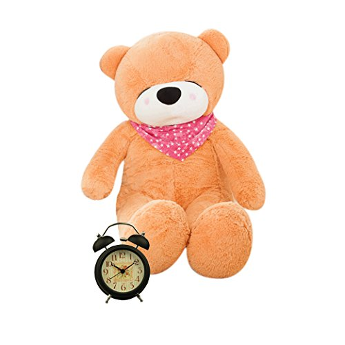 Costumes Teddy Ruxpin (YXCSELL 6 FT 79 Inches Light Brown Super Soft Huge Plush Stuffed Animal Toys Giant Life Size Teddy Bear Doll with Sleepy)