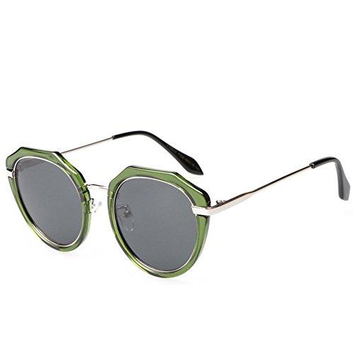 grand Lunettes femmes hommes polarisées de rétro rondes soleil de lunettes cadre de green soleil marque wwrCqaIU