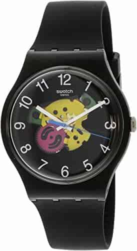 Swatch Originals Patchwork Black Dial Silicone Strap Unisex Watch SUOB140